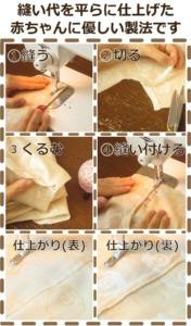 フラット縫い代製法